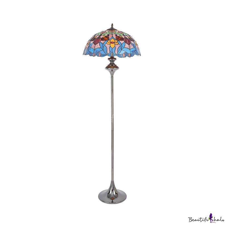 Floor Lamp Tiffany Antique Gl Metal