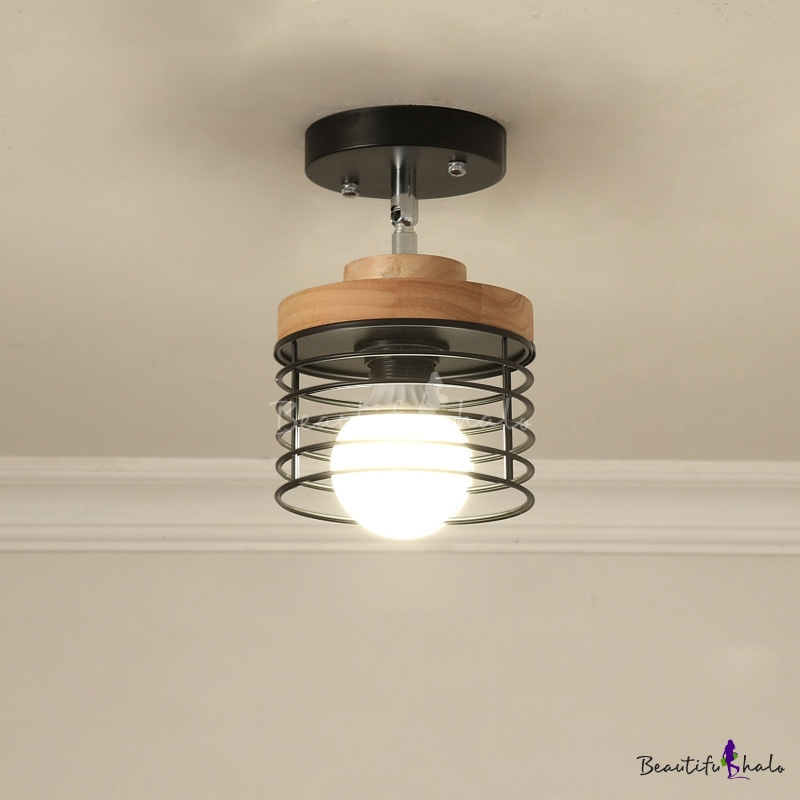 Nordic Style Caged Lighting Fixture