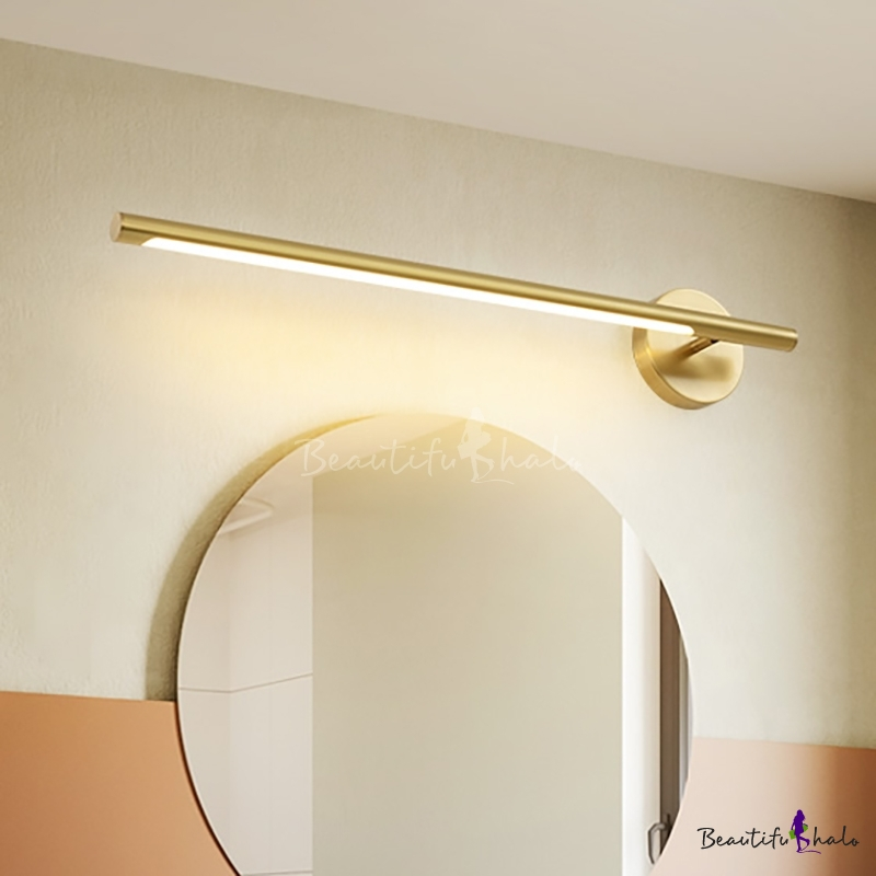 2-Arm Linear Modern Wall Sconce Matte White and Brushed Brass Mid Century Lamp Art Deco Minimalist Bathroom Vanity Industrial Conical Light