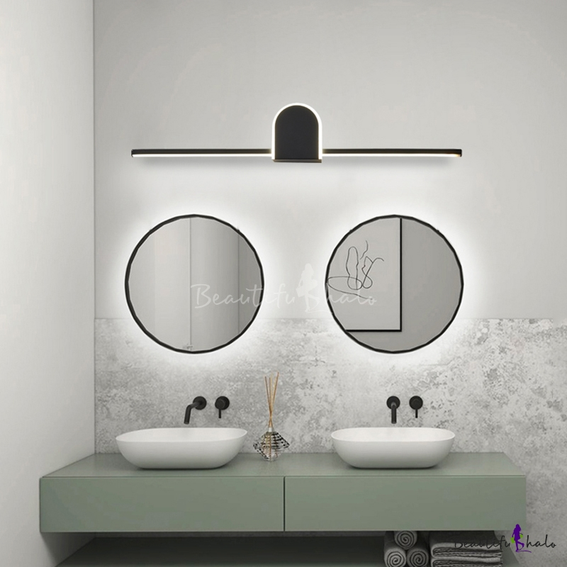 Modern Arc Triangle Wall Sconce For, Modern Bathroom Light Fixtures Black And White