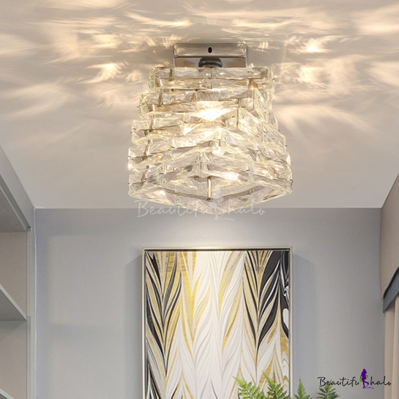 Crystal Square Ceiling Light Fixture