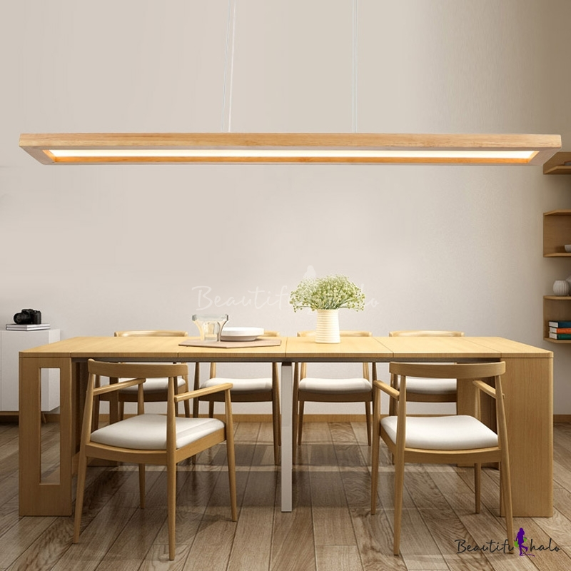 39 Inch Wide Linear Chandelier Wooden Nordic Led Dining Room Pendant Light White Neutral Warm Light Beautifulhalo Com,Bathroom Remodel Bathroom Floor Tile Ideas