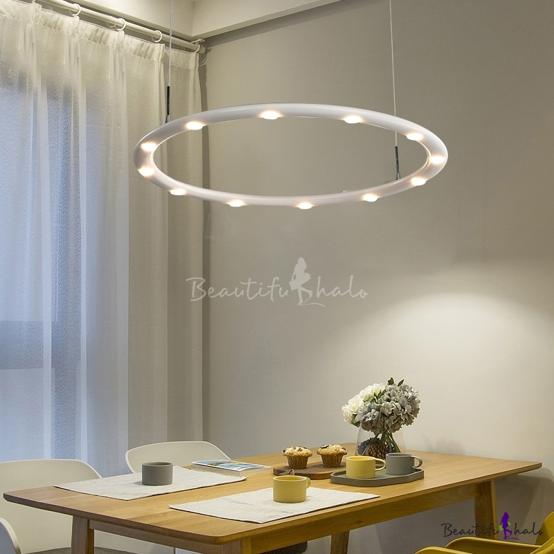 Metal Ring Chandelier Lighting Simple Modern LED Indoor Hanging Light Living Room