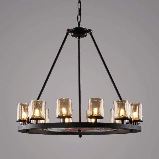 Round 12 Light Edison Bulb Chandelier | Modern rustic