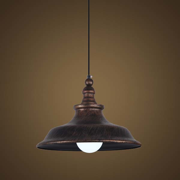 15'' Wide Stylish Antique Copper 1 Light Pendant with Bell Shade