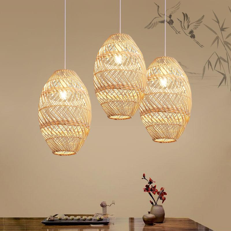 Asian 1 Head Bamboo Pendant Lighting