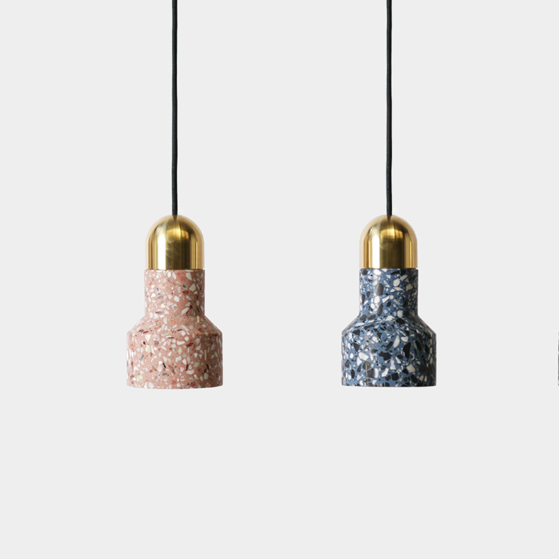 Modern Colorful Stone Ceiling Lamp