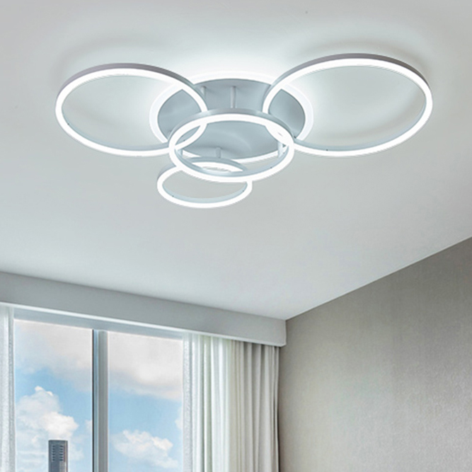 Thin Ring Led Flush Ceiling Light Simplicity Acrylic 2 3 5 6 Heads
