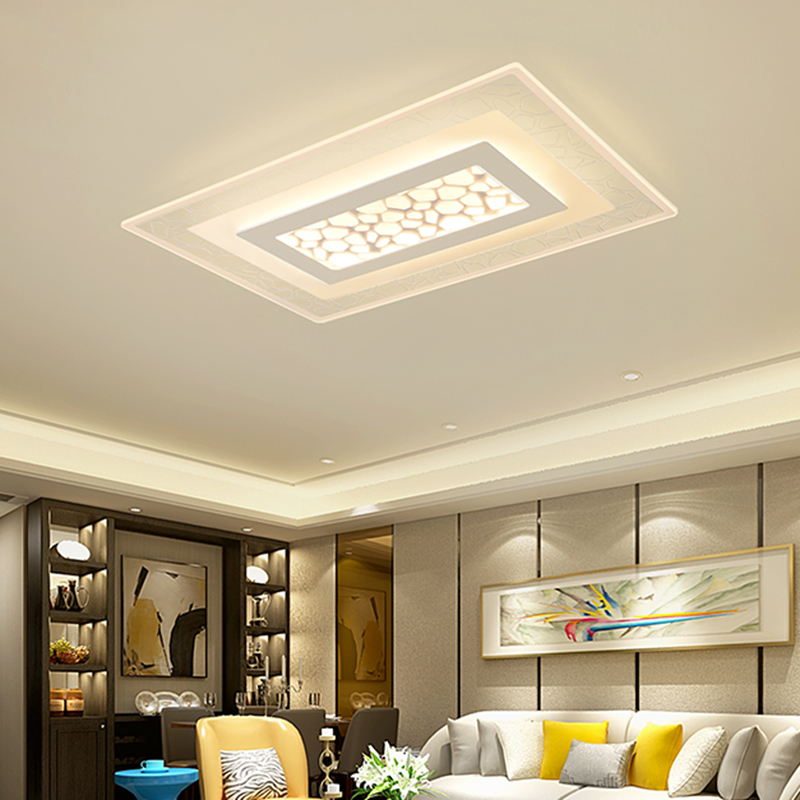 Super Thin Rectangle Ceiling Lamp, Contemporary Living Room Ceiling Lights