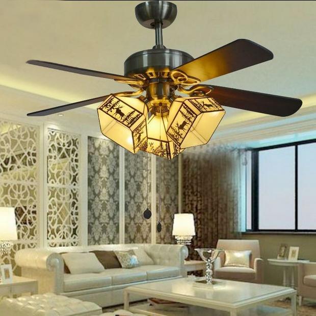 Ceiling Fan With Deer Pattern American