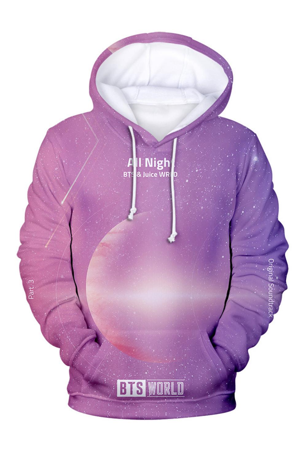 Kpop BTS Mode Imprim/é Hoodie Automne et Hiver Color/é Drole Graphique Sweatshirt Sweat-Shirt /à Capuche 3D
