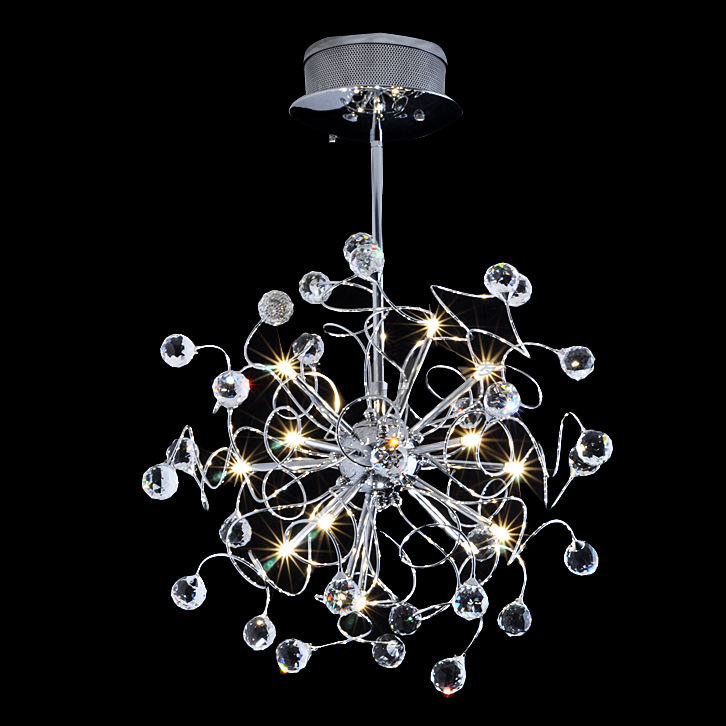 6 Lights Ball Chandelier Modern Chic Frosted Glass Hanging Light Fixture in Chrome for Restaurant