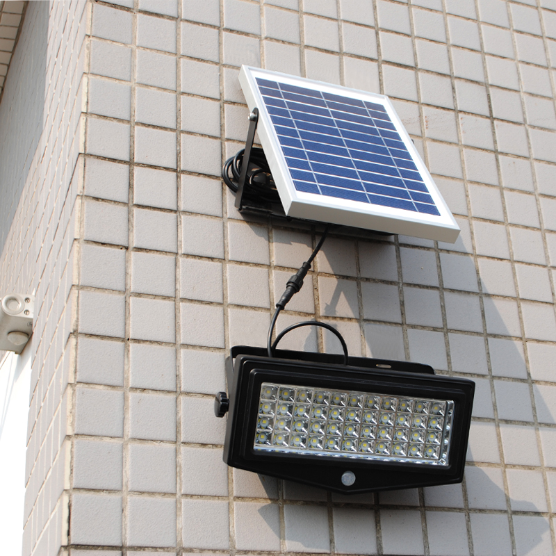 44 LEDs Super Bright Solar Powered Flood Light Wall Mount Security