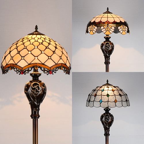 Glass Bead Clear Mediterranean Floor, Lamps Antique Style