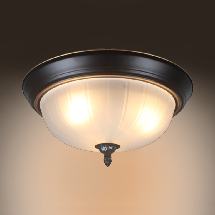 Dome Shape Flush Mont Light 3 Lights