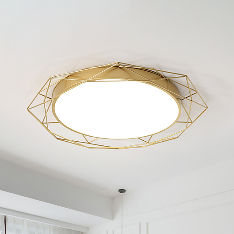 Round Flush Mount Ceiling Light With