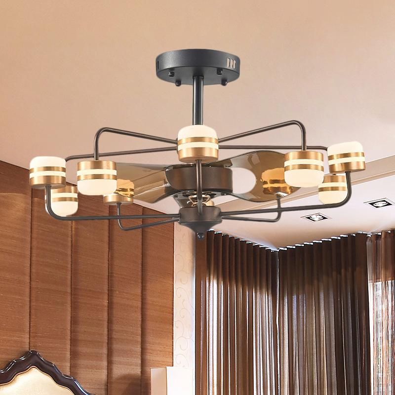 Frame Metal Hanging Fan Light Modernism 31.5