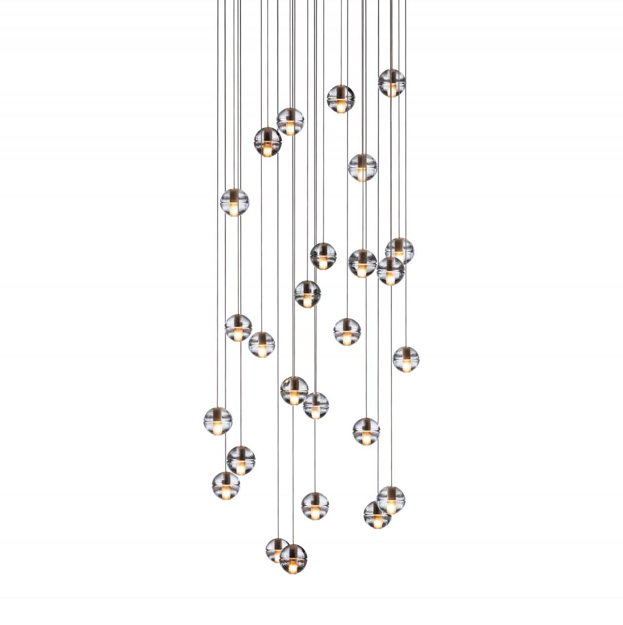 Cascade Glass Balls Pendant Light 26-Light