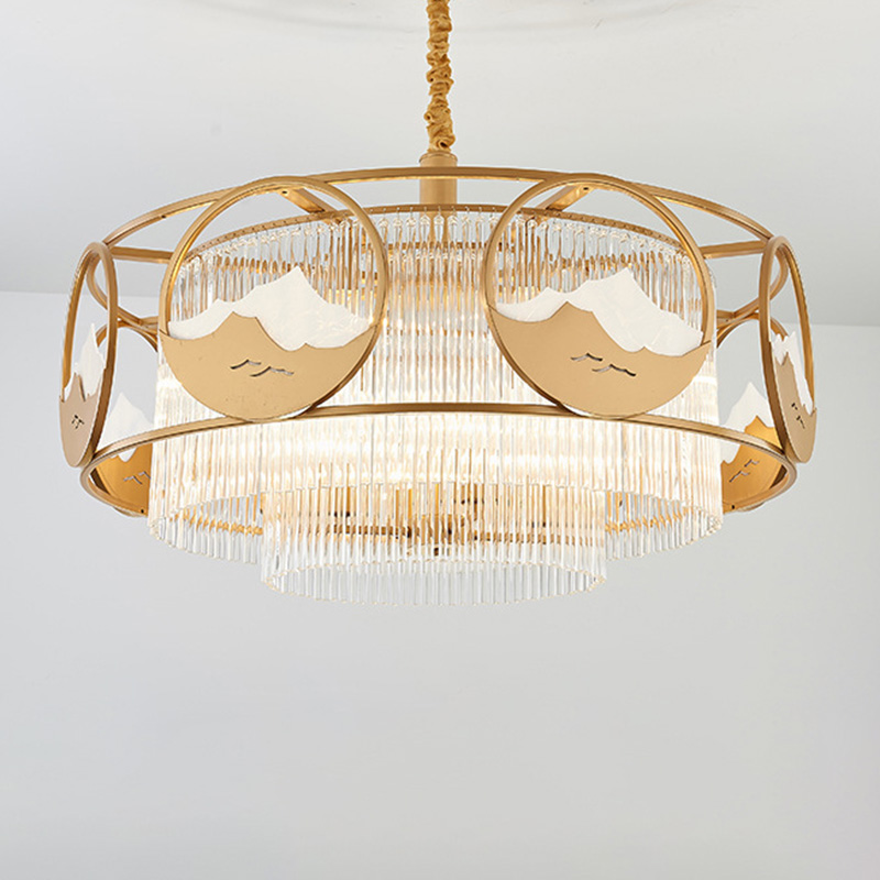 Beautifulhalogold Round Square Hanging Light Kit Postmodern 8 Heads Crystal Rod Chandelier Light Fixture Dailymail