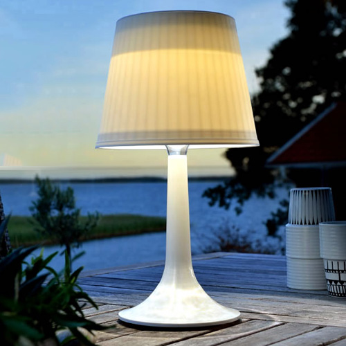 Graceful 14'' H Solar Powered LED Wireless Outdoor Indoor Portable