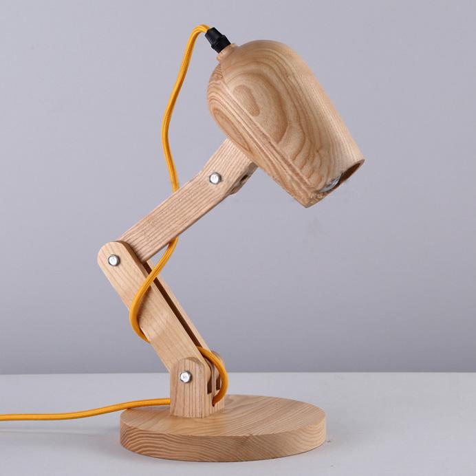 Novelty Dog Shaped Wood Designer Table Lamp for Kids Room