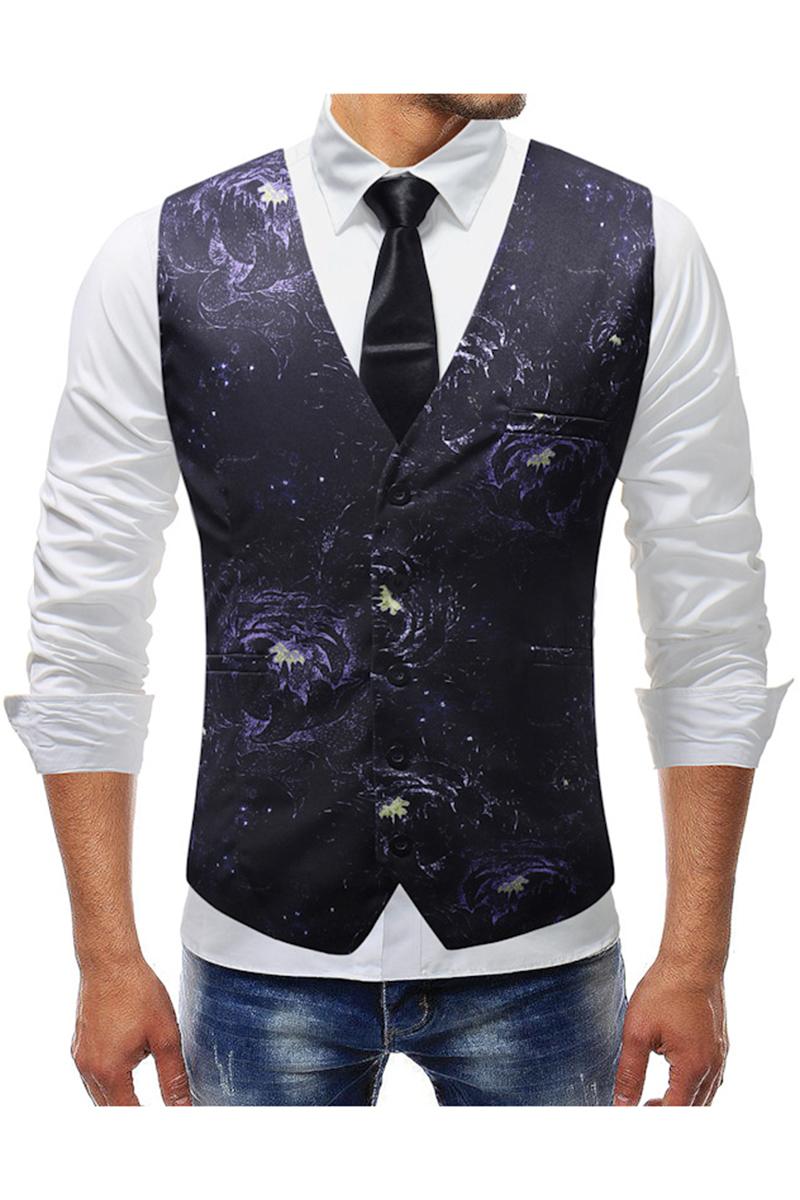 Vintage Floral Patterned Classic Vintage Vest