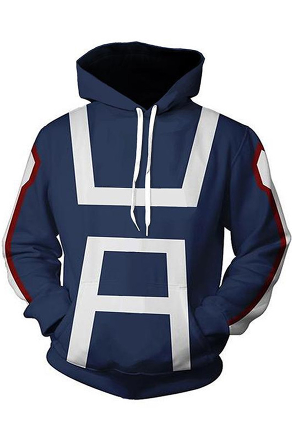 dc30cefb0 My Hero Academia Cool 3D Printed Long Sleeve Cosplay Costume Loose Casual  Pullover Hoodie