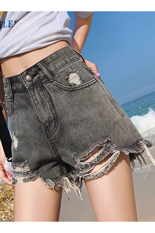 high waisted girls denim shorts