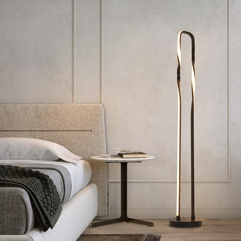 Rectangle Frame Floor Lamp Modern Led