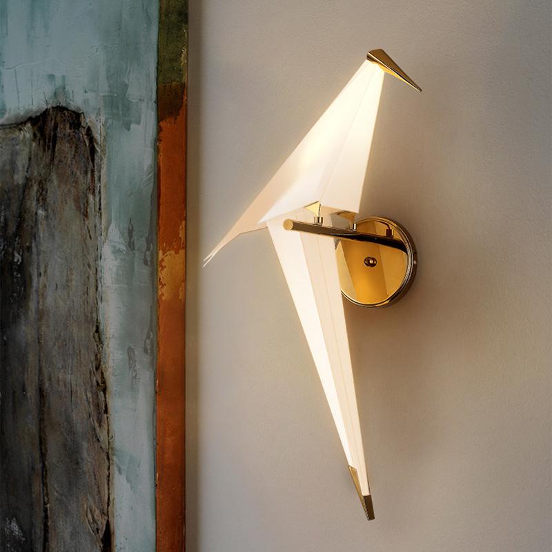 Bird Shape Wall Sconce Stylish Modern Plastic Small Wall Light For Living Room Balcony Beautifulhalo Com