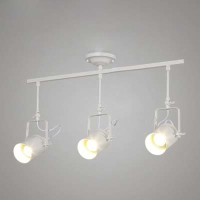 Modern Vintage Style 3 Light Commercial Tracking Light in White