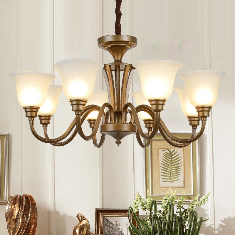 Shop Industrial 8 light Chandelier with Fabric Shade