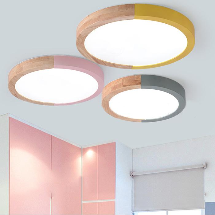 Circular Shape Led Ceiling Fixture Macaron Simple Living Room Acrylic Flush Light Fixture Beautifulhalo Com