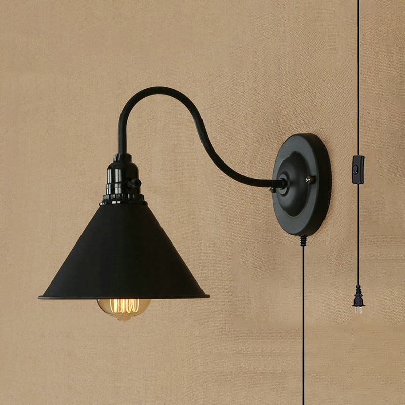 Shade Wall Sconce 1 Light Antique Style